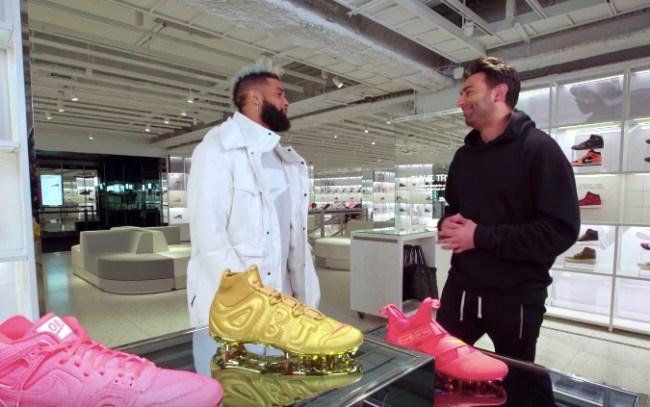 odell beckham jr goes sneaker shopping