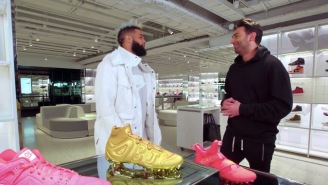 Odell Beckham Jr. Goes Sneaker Shopping At The New 68,000 Sqft. Flagship Nike Store In NYC And Talks Style