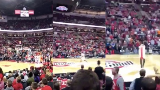 OSU Fan Dressed In Hot Dog Costume Shoots His Shot With A Pickup Line Then Drains A Half-Court Shot
