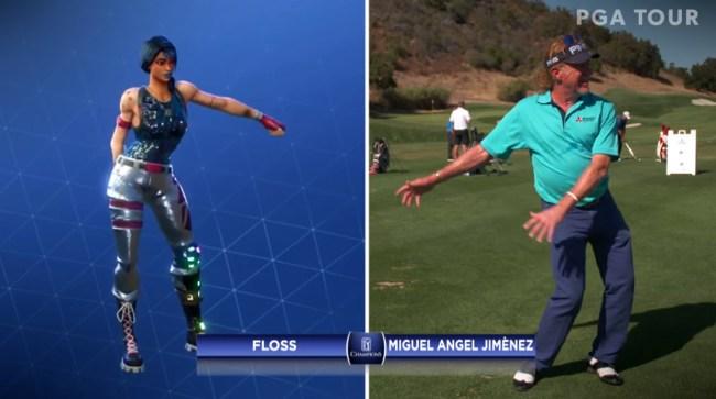 PGA Champions Tour Fortnite Dance Video