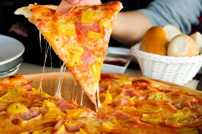 dwayne john pineapple pizza