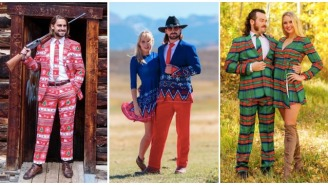 These Incredible Holiday Suits Are So Sharp They'll Make Mrs. Claus Risk It All