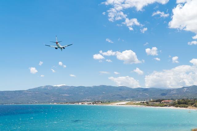 plane exotic island