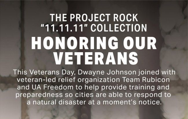 Project Rock Under Armour Veterans Day