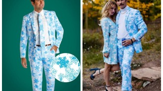This Millennial Snowflake Christmas Party Suit Is The Perfect 'Fit For The Millennial Hipster In Your Life