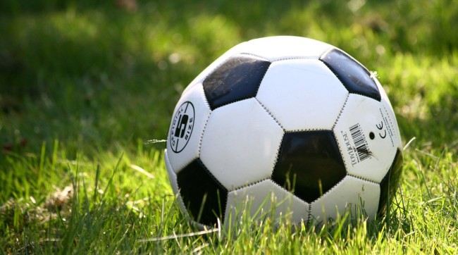 Soccer Dad Pushes Son Block Goal