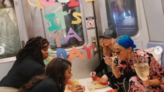 CHALLENGE: Find A More Aggravating Scene Than These Women Who Took Over A Subway Car To Throw A Birthday Party