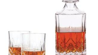 Start Living Your Best Life With The Viski Admiral Tumblers + Decanter Faceted Crystal Design Bar Set