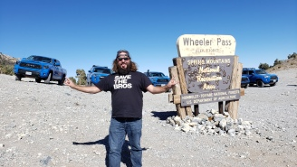 Off-Roadin' Up Nevada's Wheeler Pass In 2019 Toyota TRD Pro Trucks, Trying To Not Faceplant Into Rock