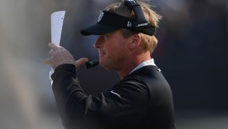 Jon Gruden Tells The Denver Broncos To 'Shut The F*ck Up' In Highly Entertaining Mic'd Up 'MNF' Footage