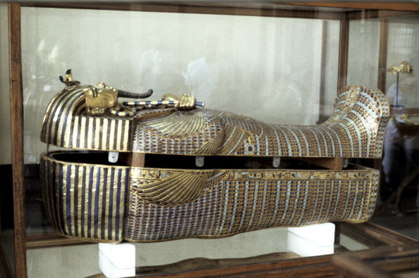 Golden sarcophagus of the Pharoah Tutankhamun, c1325 BC. (Photo by Ann Ronan Pictures/Print Collector/Getty Images)