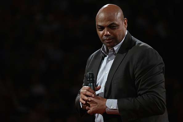 PHOENIX, AZ - MARCH 03:  NBA legend Charles Barkley speaks during half time of the NBA game between the Oklahoma City Thunder and the Phoenix Suns at Talking Stick Resort Arena on March 3, 2017 in Phoenix, Arizona. NOTE TO USER: User expressly acknowledges and agrees that, by downloading and or using this photograph, User is consenting to the terms and conditions of the Getty Images License Agreement.  (Photo by Christian Petersen/Getty Images)