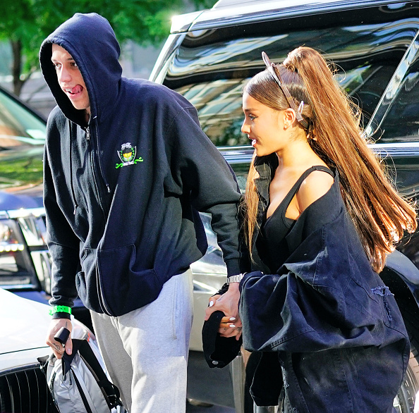 NEW YORK, NY - JUNE 25:  Ariana Grande and Pete Davidson out and about on June 25, 2018 in New York City.  (Photo by Gotham/GC Images)