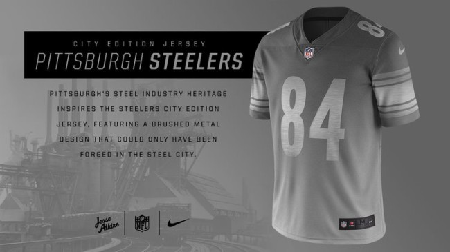 Nike City Edition Uniforms For NFL Teams Pittsburgh