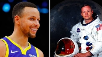 Steph Curry Wipes The Spit Off Neil Armstrong's Grave By Admitting He Was Trolling About Moon Landing Farce