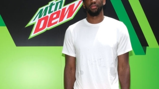 Joel Embiid Must Start Guzzling Mountain Dew Ice At Halftime To Prevent Getting Gassed Late In Games
