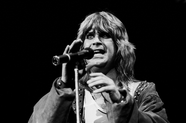 British musician Ozzy Osbourne performs at the Alpine Valley Music Theater, East Troy, Wisconsin, May 29, 1982. (Photo by Paul Natkin/Getty Images)