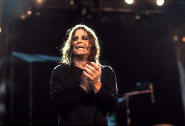 British musician Ozzy Osbourne performs at the Allstate Arena, Rosemont, Illinois, October 22, 1998. (Photo by Paul Natkin/Getty Images)