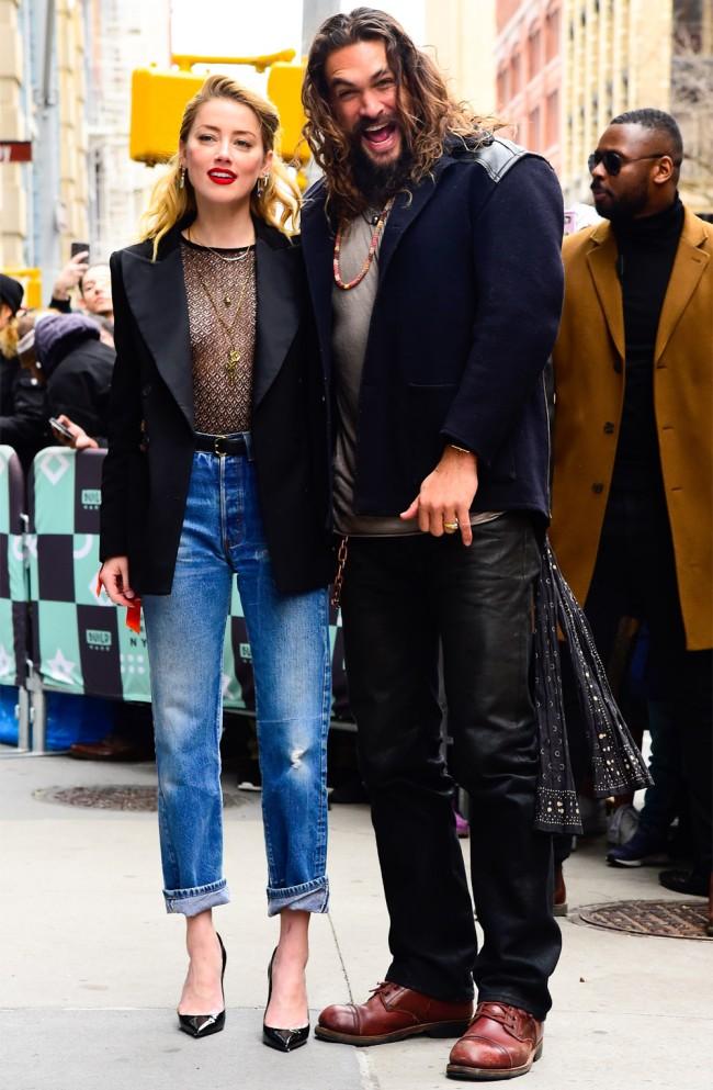 Jason Momoa Amber Heard Pranks Aquaman Set