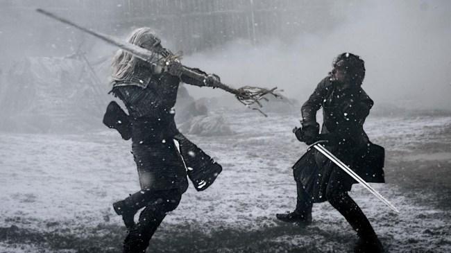 jon snow game of thrones battle white walkers