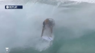 Kelly Slater Pulled Off The Craziest Move You'll Ever See In Surfing At The Pipe Masters