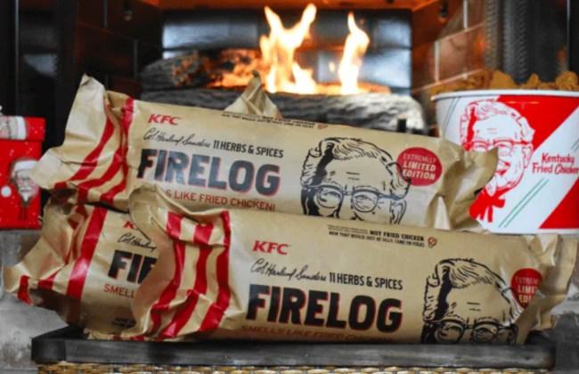 kfc fried chicken log