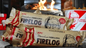 All I Want For Christmas Are These KFC Logs That Smell Like Heavenly Fried Chicken