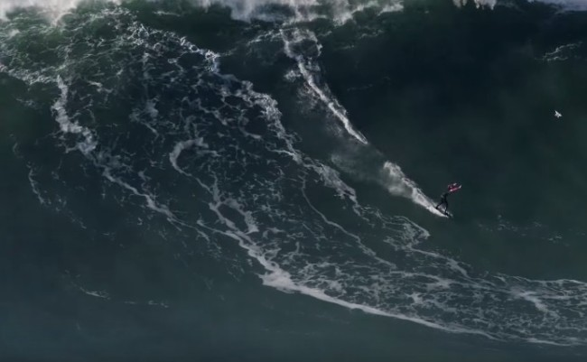Tom Butler 100-foot wave surfing Nazare biggest ever