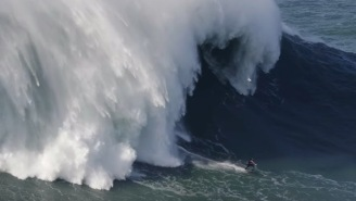 British Surfer Shreds Record 100-Foot Wave That's Believed To Be 20-Feet Taller Than Previous World Record
