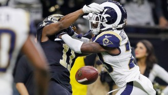 Alternate Angle From The Stands Of The Uncalled Rams Pass Interference Penalty Is Stunningly Egregious