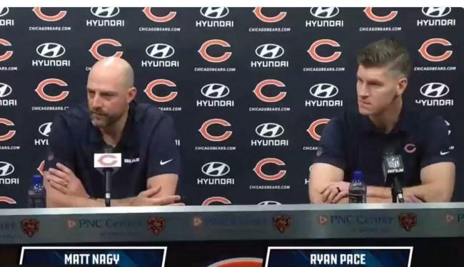 Bears' Coach Matt Nagy, GM Ryan Pace On Kareem Hunt, Cody Parkey