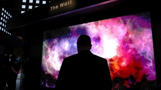 I Can't Decide Which New TV Is Cooler, One That Rolls Itself Up And Disappears Or A 219-Inch Behemoth Called 'The Wall'