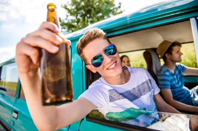 can you drink in a car