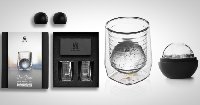 Duo Glass Whiskey Glasses