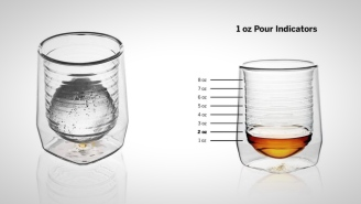 These Hand-Blown Whiskey Glasses Have Built-In Measuring Lines To Ensure A Perfect Pour Every Time