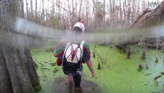 This POV Footage Of Florida Skydivers Missing Their Drop Zone And Landing In A Swamp Is Nuts