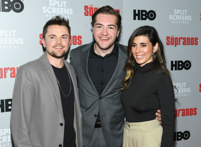 """NEW YORK, NEW YORK - JANUARY 09:  Robert Iler, Michael Gandolfini and Jamie-Lynn Sigler attend the """"The Sopranos"""" 20th Anniversary Panel Discussion at SVA Theater on January 09, 2019 in New York City. (Photo by Mike Coppola/WireImage)"""