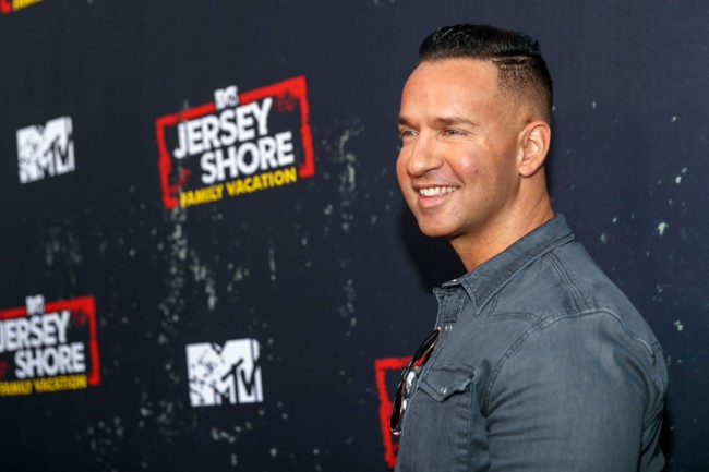 "WEST HOLLYWOOD, CA - MARCH 29:  Television personality Mike Sorrentino arrives at the ""Jersey Shore Family Vacation"" Premiere Party at Hyde Sunset Kitchen + Cocktails on March 29, 2018 in West Hollywood, California.  (Photo by Rich Polk/Getty Images for MTV)"