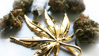 This Giant Blunt Covered In Gold Is The Most Expensive Pre-Rolled Weed Ever Sold