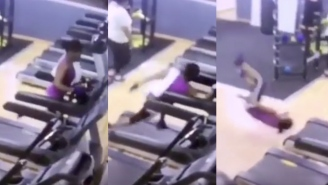 I've Got Nothing But Respect For This Person Who Smacked Their Face On The Treadmill (TWICE) And Kept Going