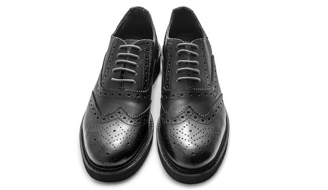 Black brogue Mens Dress Shoes