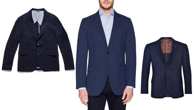 navy blue sports coat men