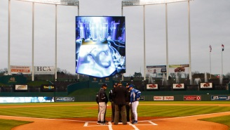News Helicopter Busts Someone Living The Dream, Playing 'Mario Kart' On The Kansas City Royals' Jumbotron