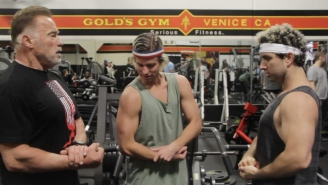 Chad Goes Deep Hits The Gym With Arnold Schwarzenegger To Pump You Up For The Arnold Strongman Classic