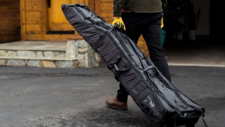 The Amazing 'Snow Roller' Ski And Snowboard Bag Rolls Up To The Size Of A Kickball For Easy Storage