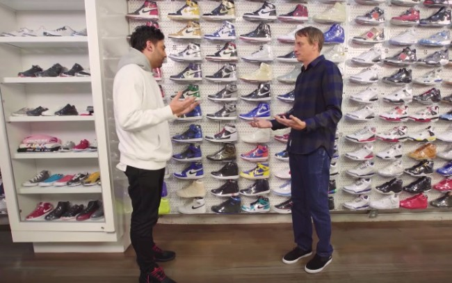 Tony Hawk goes sneaker shopping