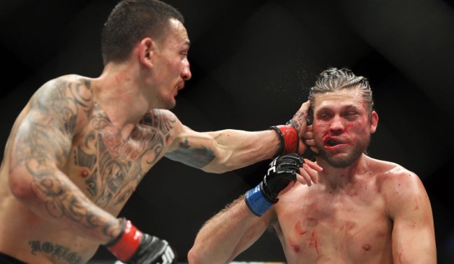 ufc fighter brian ortega video pins being pulled out of broken thumb