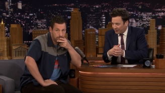 Adam Sandler Serenades Jimmy Fallon To Be His Valentine And Tells Story Of Chris Farley Crying Over His Dad