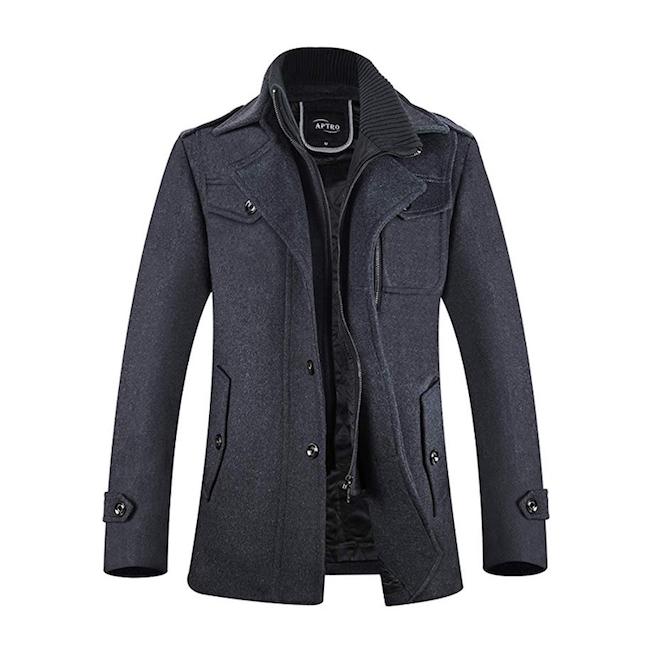APTRO Single Breasted Wool Coat
