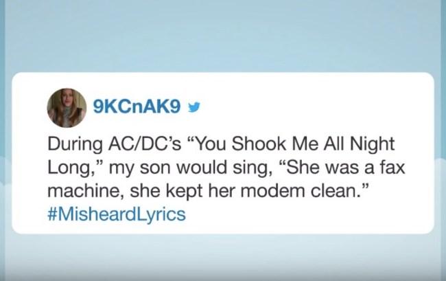 best misheard lyrics hashtag roundup twitter jokes